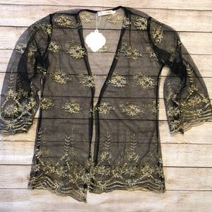 Simply Couture Black & Gold Kimono